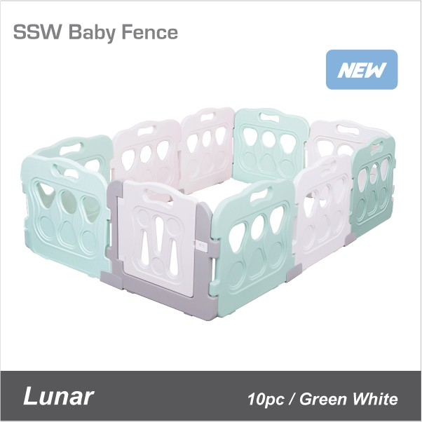Lunar Baby Fence (Green/White set)