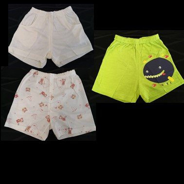 Bamboo Fibre Short Pants 12 to 24 Months (Multiple