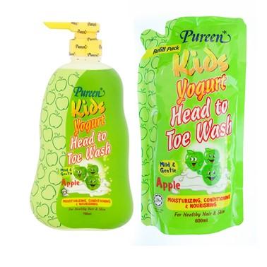 Pureen Kid's Yogurt Head To Toe Wash Value Pack -