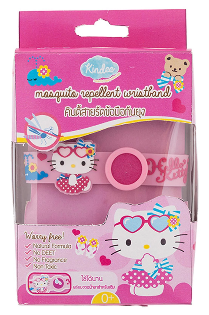 Kindee Mosquito Repellent Wristband - Hello Kitty