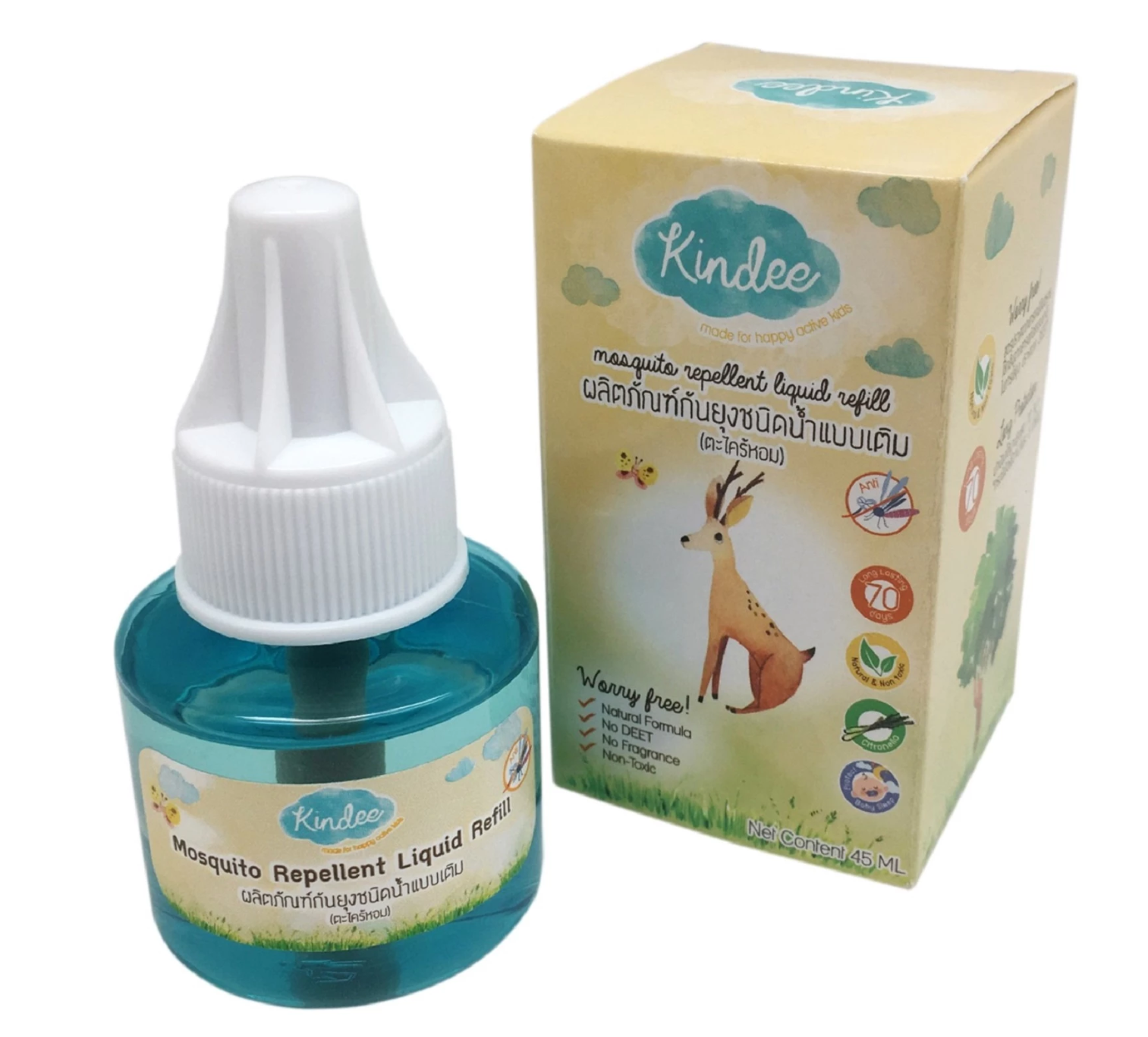 Kindee Mosquito Repellent Liquid Refill (45ml)