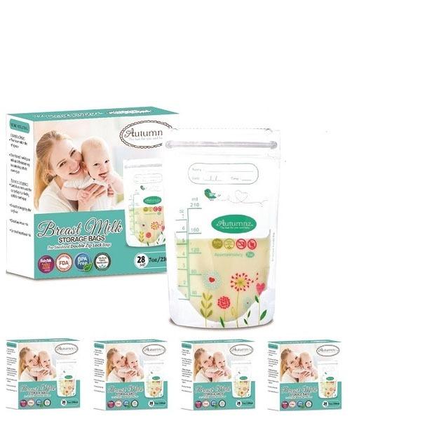 Autumnz - 5 Boxes of Double ZipLock Breastmilk Sto