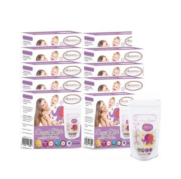 Autumnz - 10 Boxes of Double ZipLock Breastmilk St