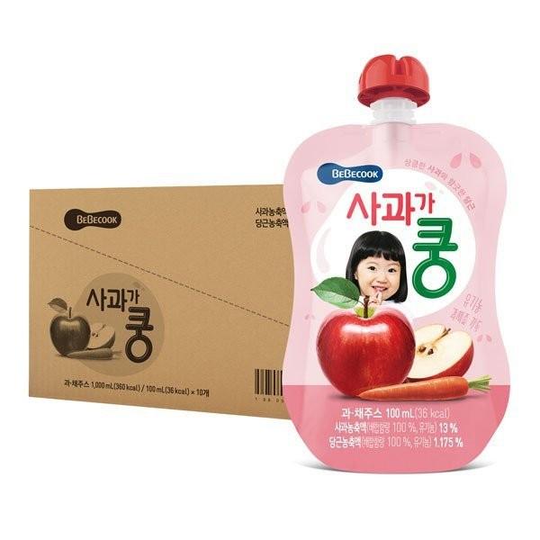 BeBecook - Value Box of 10 x Organic Apple & Carro