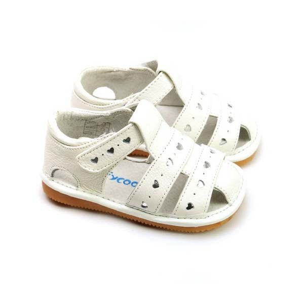 Freycoo - White Danielle Squeaky Toddler Shoes