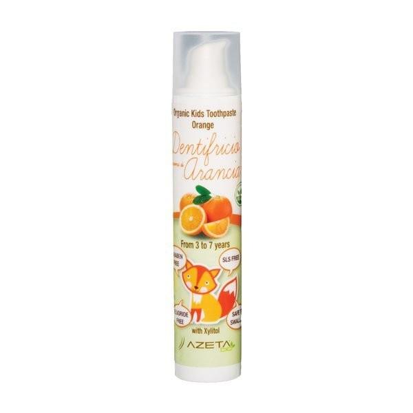 AzetaBio - Organic Airless Pump Toothpaste, 3-7yr