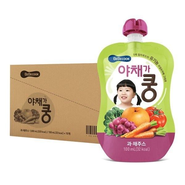 BeBecook - Value Box of 10 x Organic Fruit & Veg J
