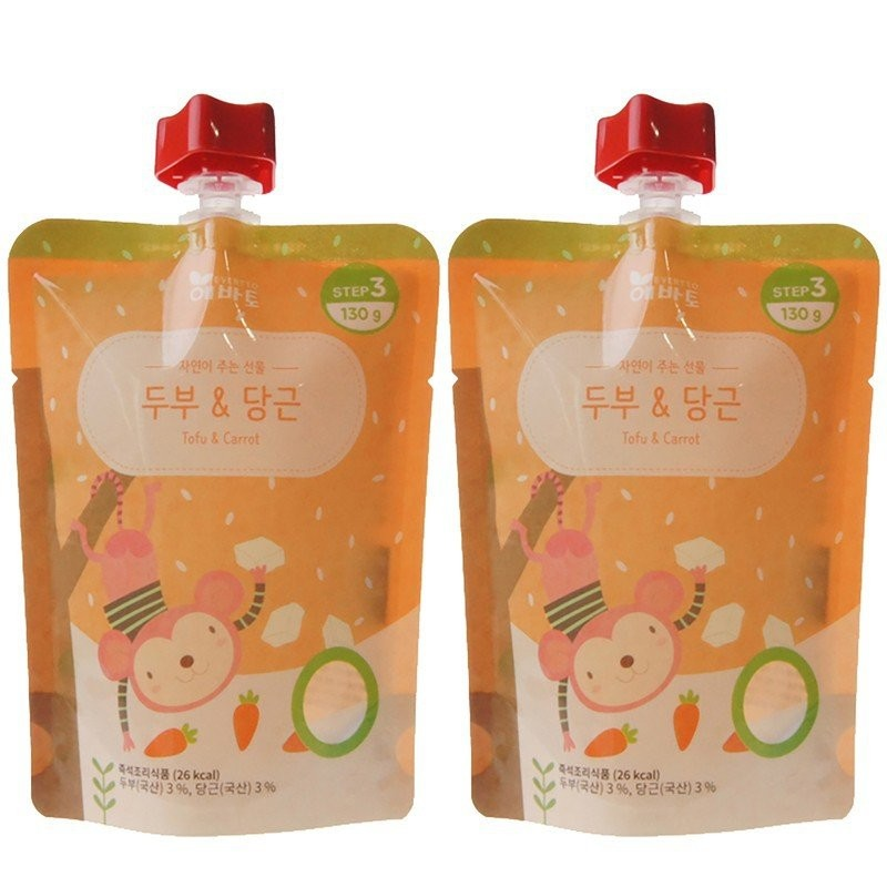 [2 POUCHES] Evertto - Carrot & Tofu Porridge (130g