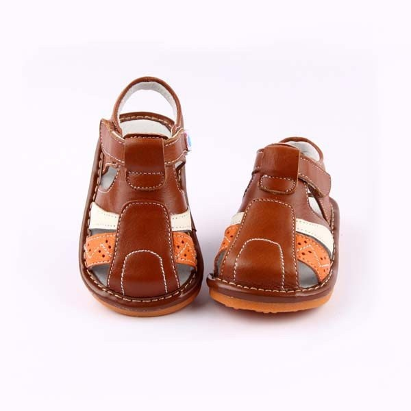 Freycoo - Brown Dennis Squeaky Toddler Shoes
