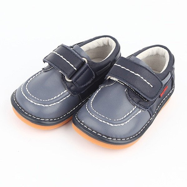Freycoo - Navy William Squeaky Toddler Shoes