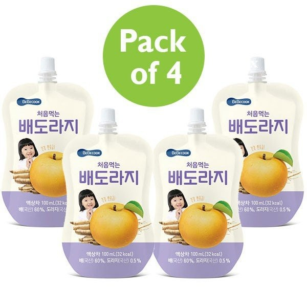 4 x BeBecook - Brewed Korean Golden Pear Drink w B