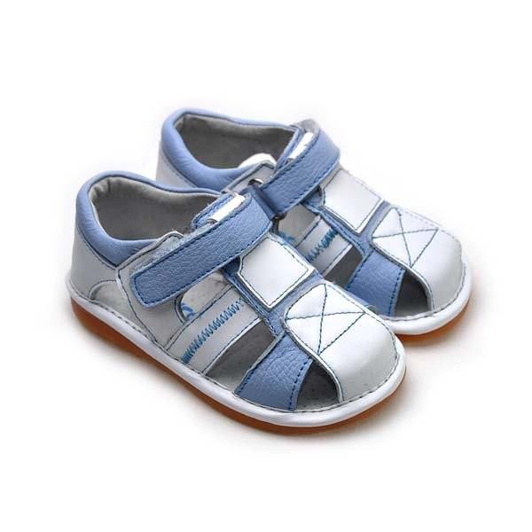 Freycoo - Blue Tobias Squeaky Toddler Shoes