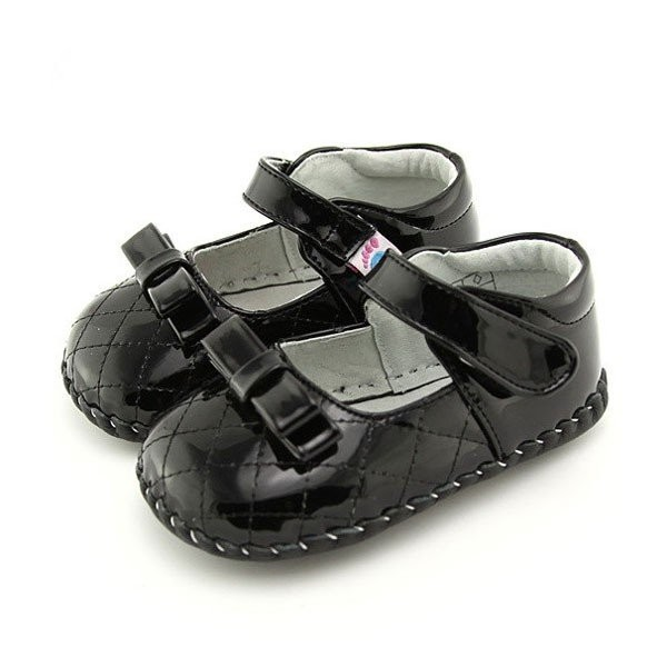 Freycoo - Black Margaret Infant Shoes