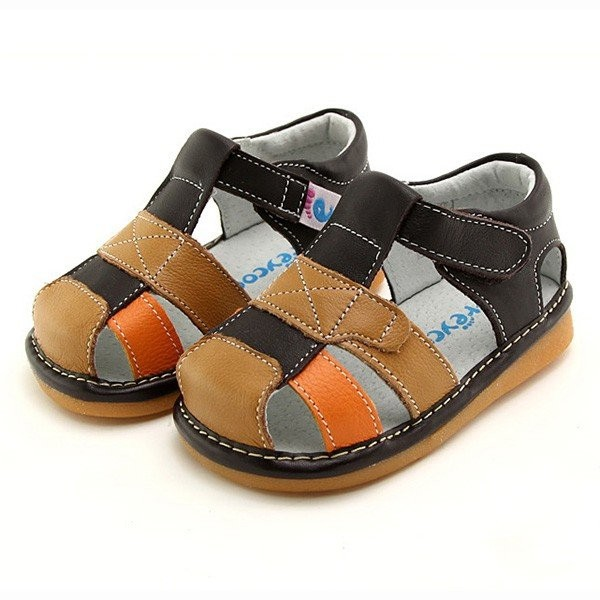 Freycoo - Brown Mateo Squeaky Toddler Shoes