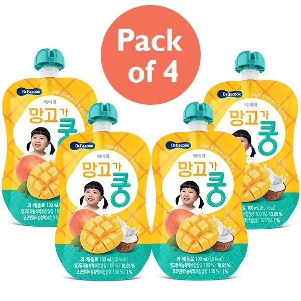 4 x BeBecook - Mango & Coconut Juice 100ml