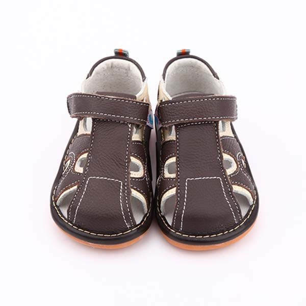 Freycoo - Brown Arthur Squeaky Toddler Shoes