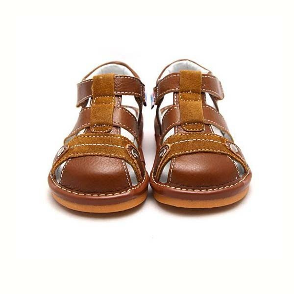 Freycoo - Brown Toby Squeaky Toddler Shoes