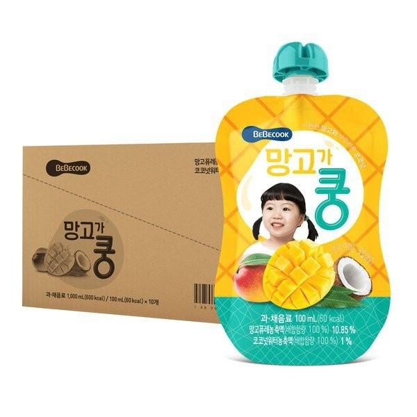 BeBecook - Value Box of 10 x Mango & Coconut Juice