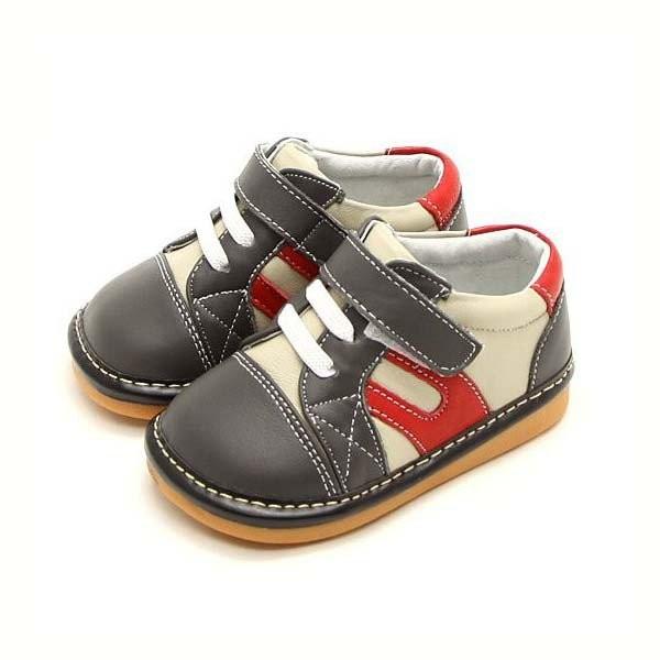 Freycoo - Grey Mason Squeaky Toddler Shoes