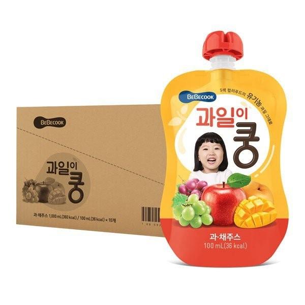 BeBecook - Value Box of 10 x Organic Mixed Fruit J