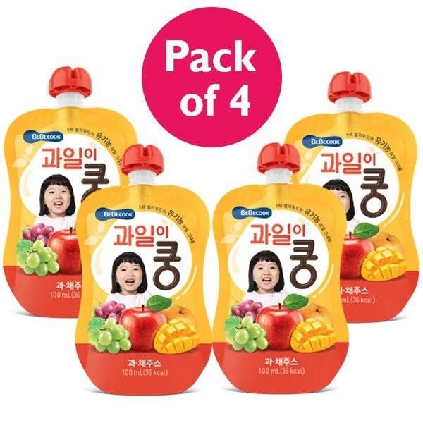 4 x BeBecook - Organic Mixed Fruit Juice 100ml