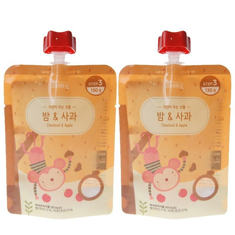 [2 POUCHES] Evertto - Chestnut & Apple Porridge (1