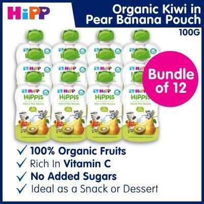 100% Organic HiPP Kiwi in Pear Banana Pouch (Bundl
