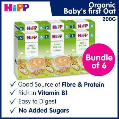 HiPP Organic Baby First Oat Cereal (Bundle of 6)