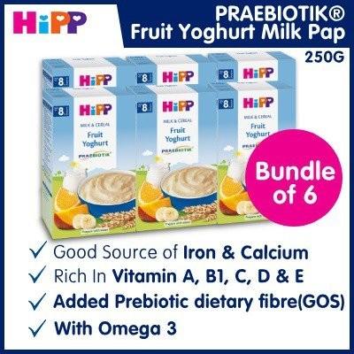 Bundle of 6 [HiPP] Fruit Yoghurt Milk Pap (Praebio
