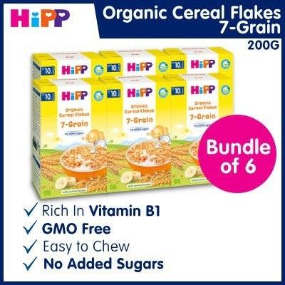Nutritious HiPP 7-Grain Cereal Flakes (Bundle of 6