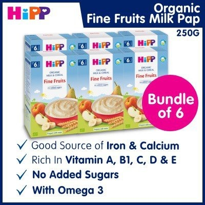 Bundle of 6 [HiPP] Organic Fine Fruits Milk Pap