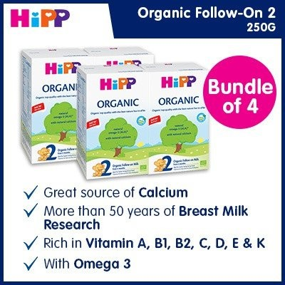 HiPP Organic Stage 2 Follow-on Milk (Bundle of 6)