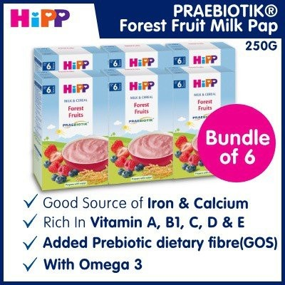 Bundle of 6 [HiPP] Forest Fruit Milk Pap (Praebiot