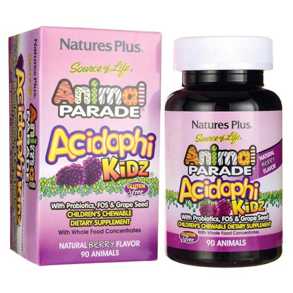 Natures Plus Animal Parade AcidophiKidz Children's