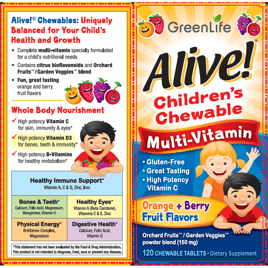 GreenLife Alive! Children's Chewable Multi-Vitamin