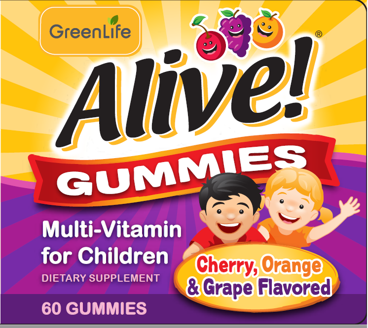 GreenLife Alive! Premium Gummies for Children