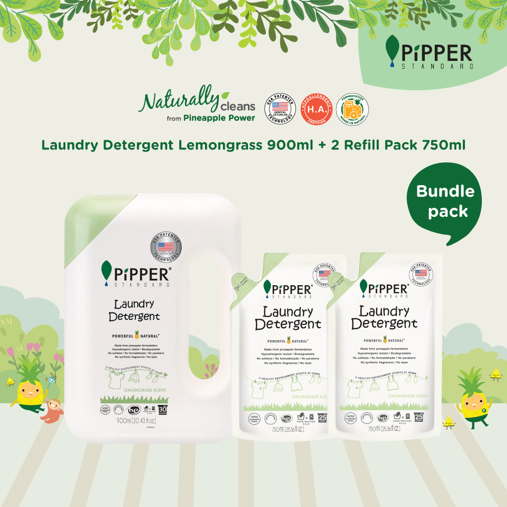 Pipper Standard Laundry Detergent Lemongrass 900ml