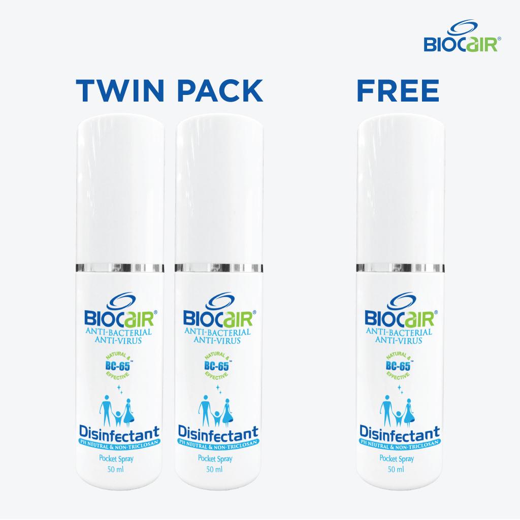 BioCair Disinfectant Pocket Spray (Buy 2 Get 1 Fre