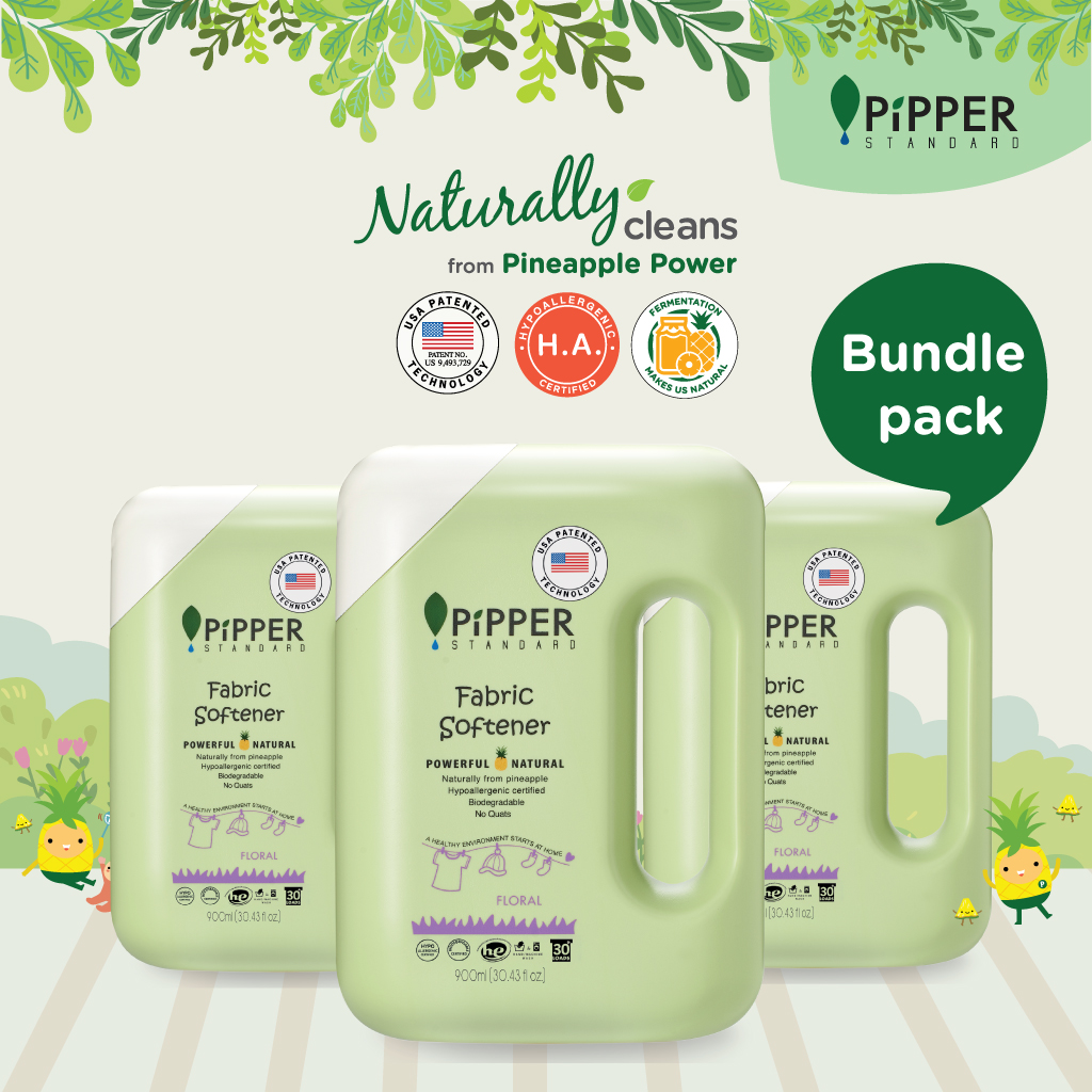 Pipper Standard Fabric Softener Floral 900ml x 3