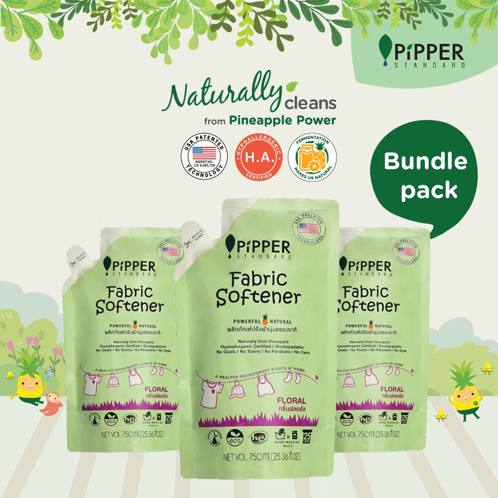 Pipper Standard Fabric Softener Floral 750ml x 3