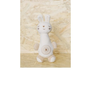 Nachuraru Plush Rabbit Rattle and Squeaker