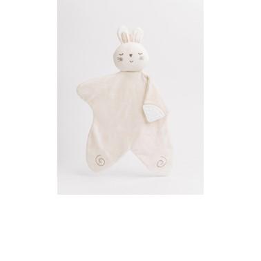 Nachuraru Rabbit Comfort Hankie with Teether