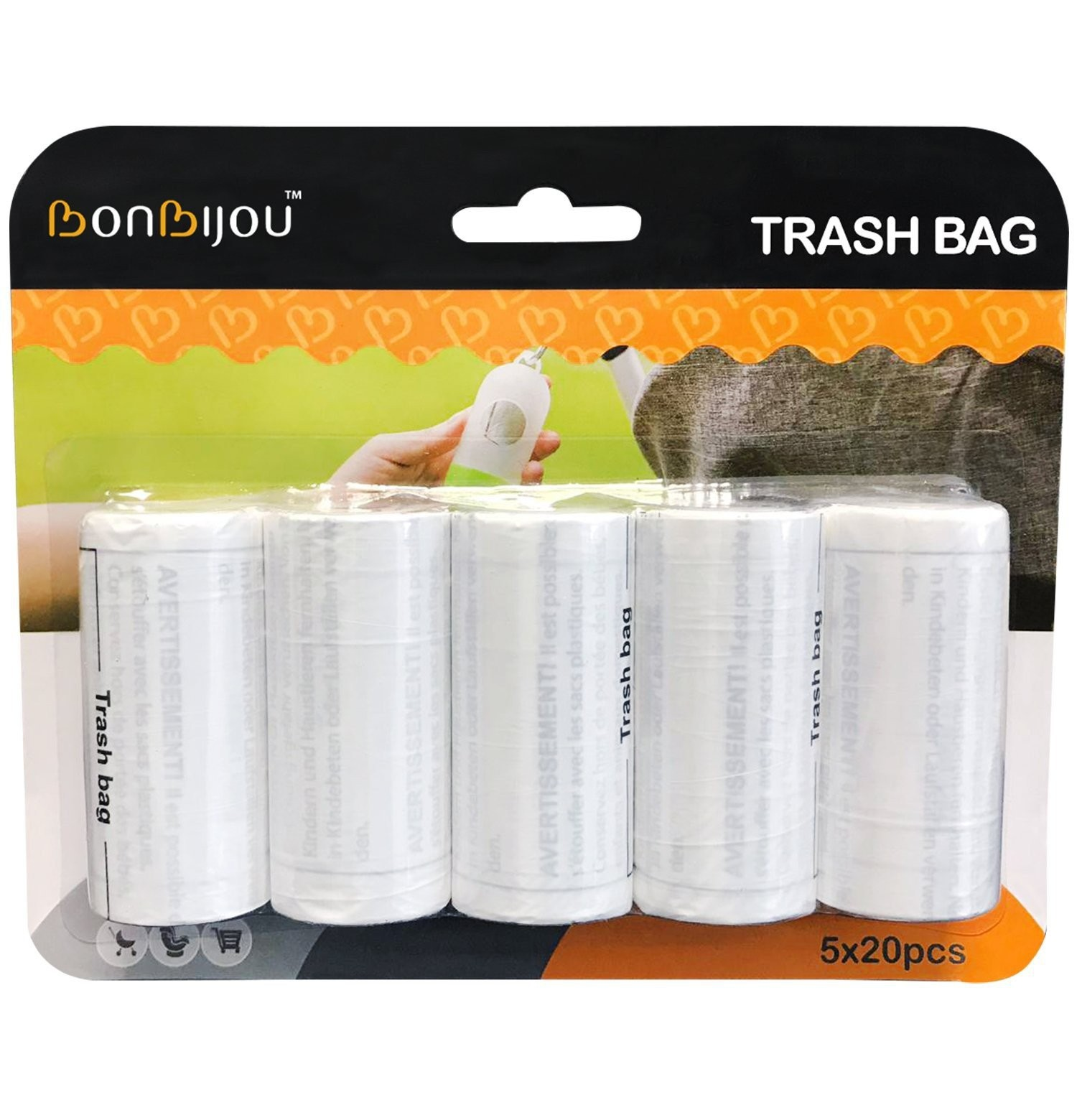 Bonbijou Trash Bag Refills 5 X 20pcs