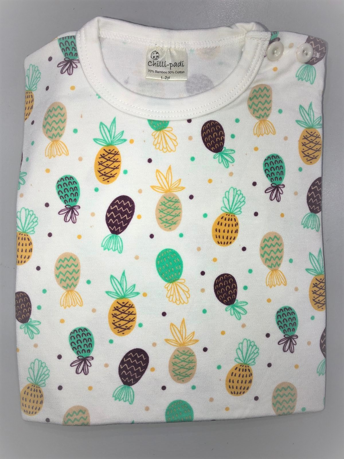 Chilli Padi 2 pc Sleepsuit - Pineapple