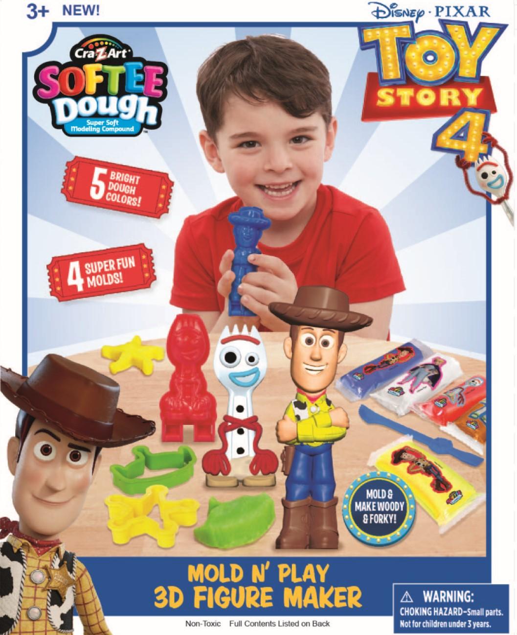 Disney Toy Story 4 Softee Dough Mold n Play 3D Fig