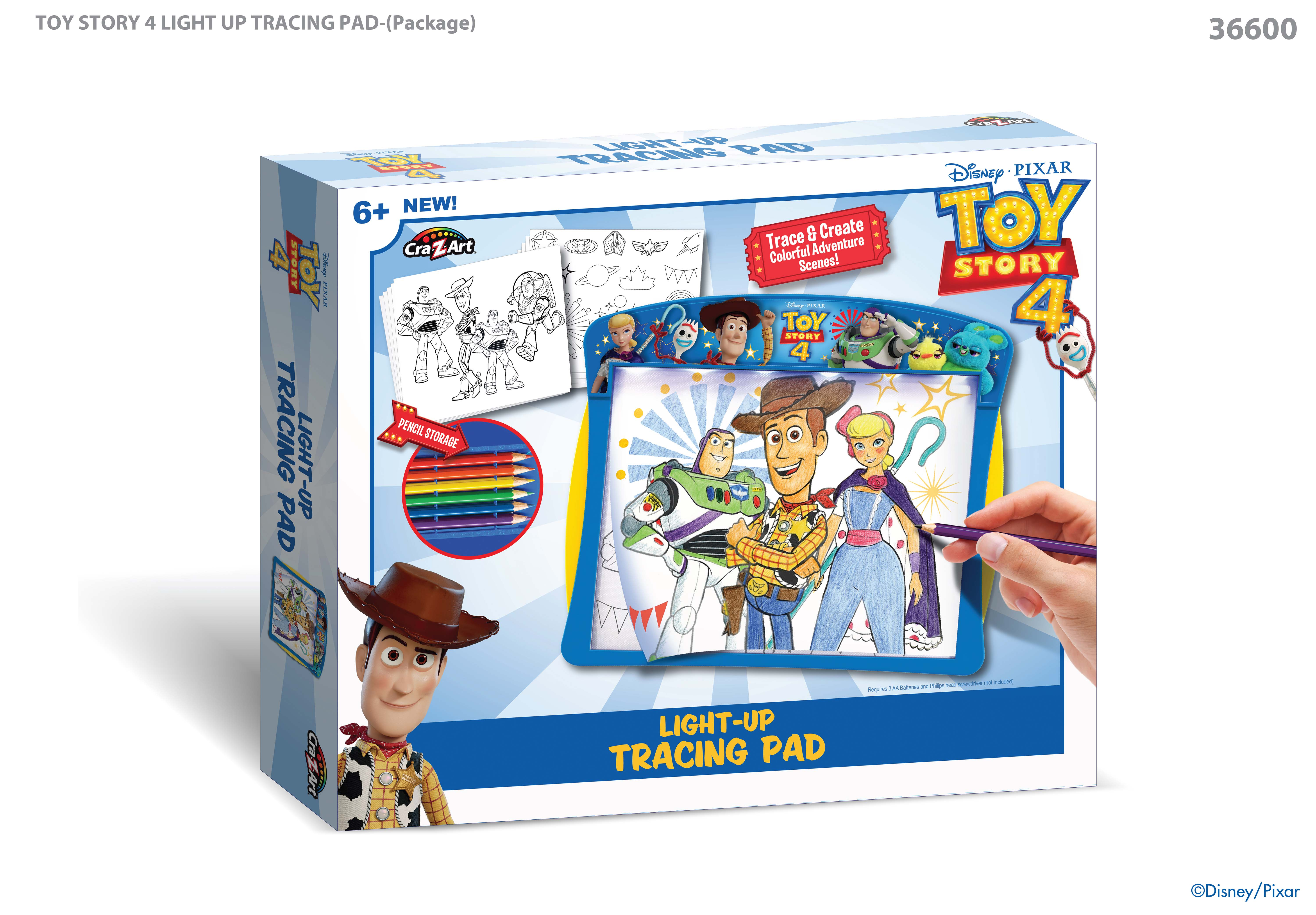 Disney Toy Story 4 Bright led's Lght Up Tracing Pa