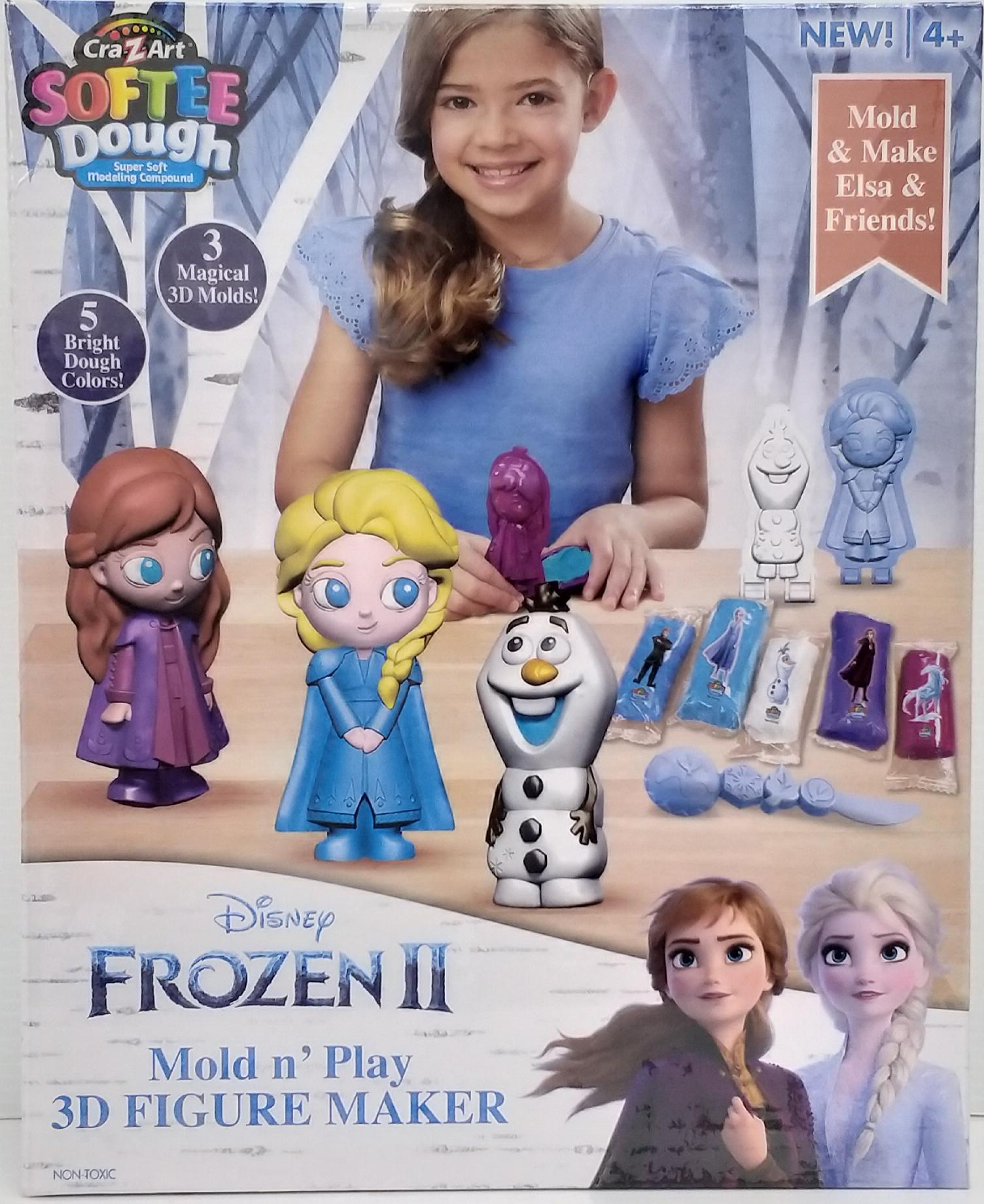 Disney Frozen II Softee Dough Mold n Play 3D Figur