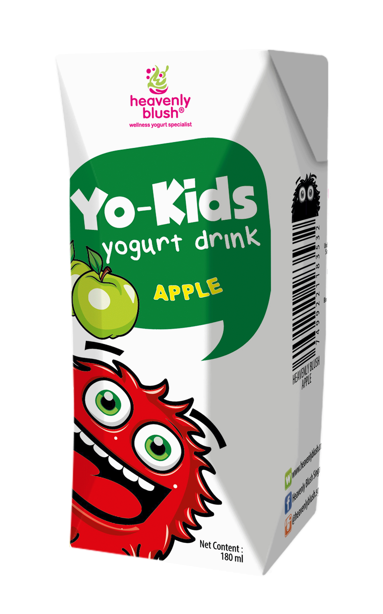 Heavenly Blush Yo Kids Drink- Apple