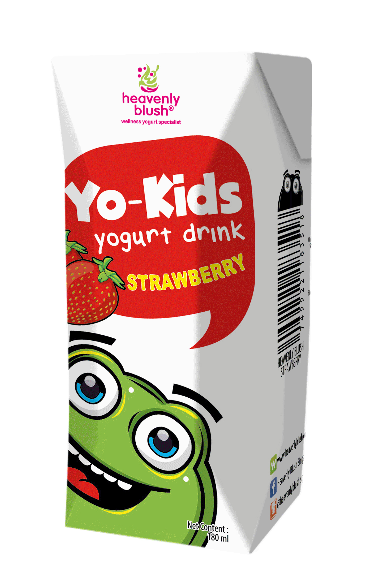 Heavenly Blush Yo Kids Drink- Strawberry