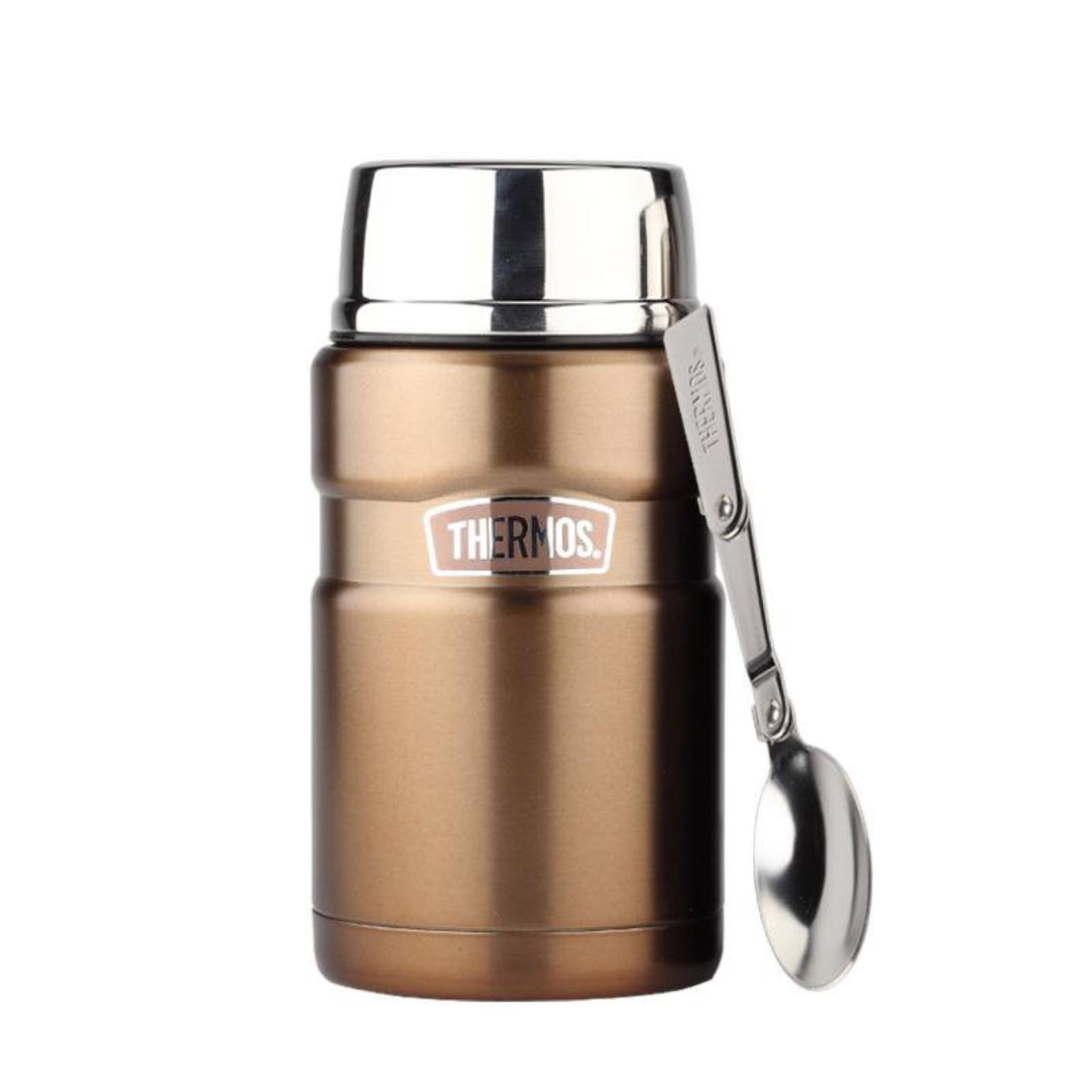 Gold -- Thermos Stainless Steel King Food Jar - SK